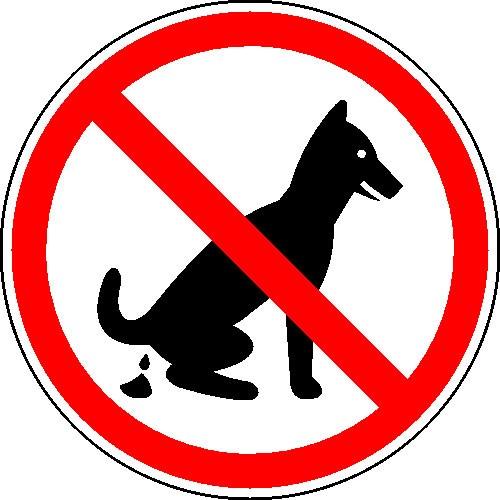 Kein Hundeklo - rund