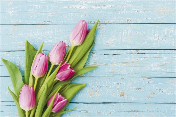 Blumen auf Holz Tulpen