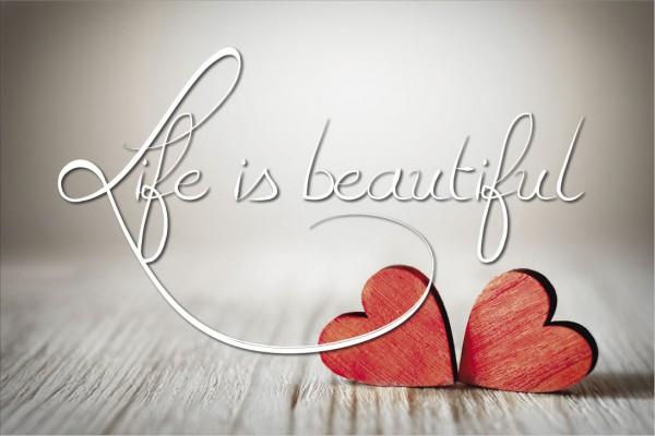 Life is beautiful - Herz