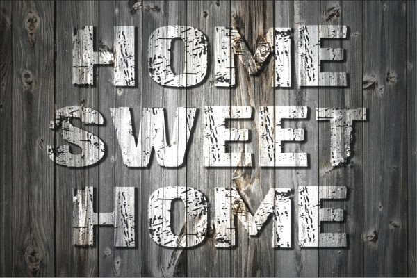 Home sweet home grau