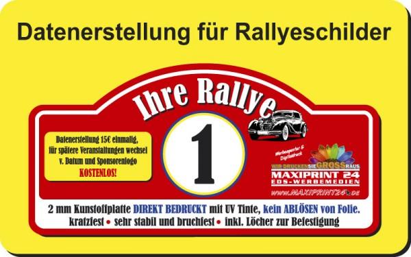 Datenerstellung für Rallyeschild