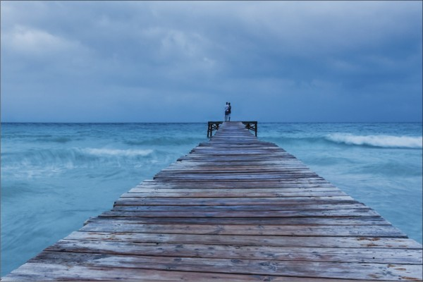 Steg ins Meer